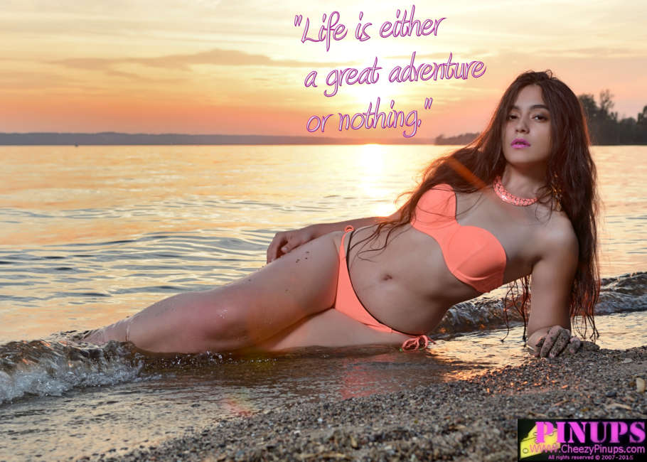 "Cheezy Pin up - June 27, 2015     ""Life is either a great adventure or nothing."" - Helen Keller  Model: Virginia"