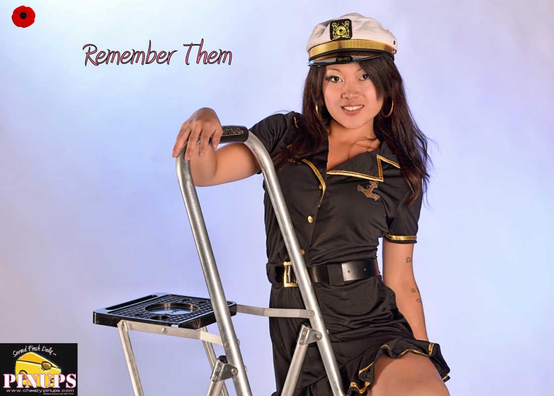 Cheezy Pin up - November 5, 2015    Remember Them Model: Carmen