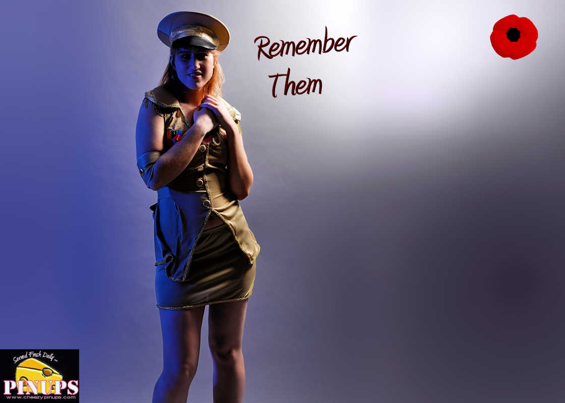 Cheezy Pin up - November 10, 2015    Remember Them  Model: Maria