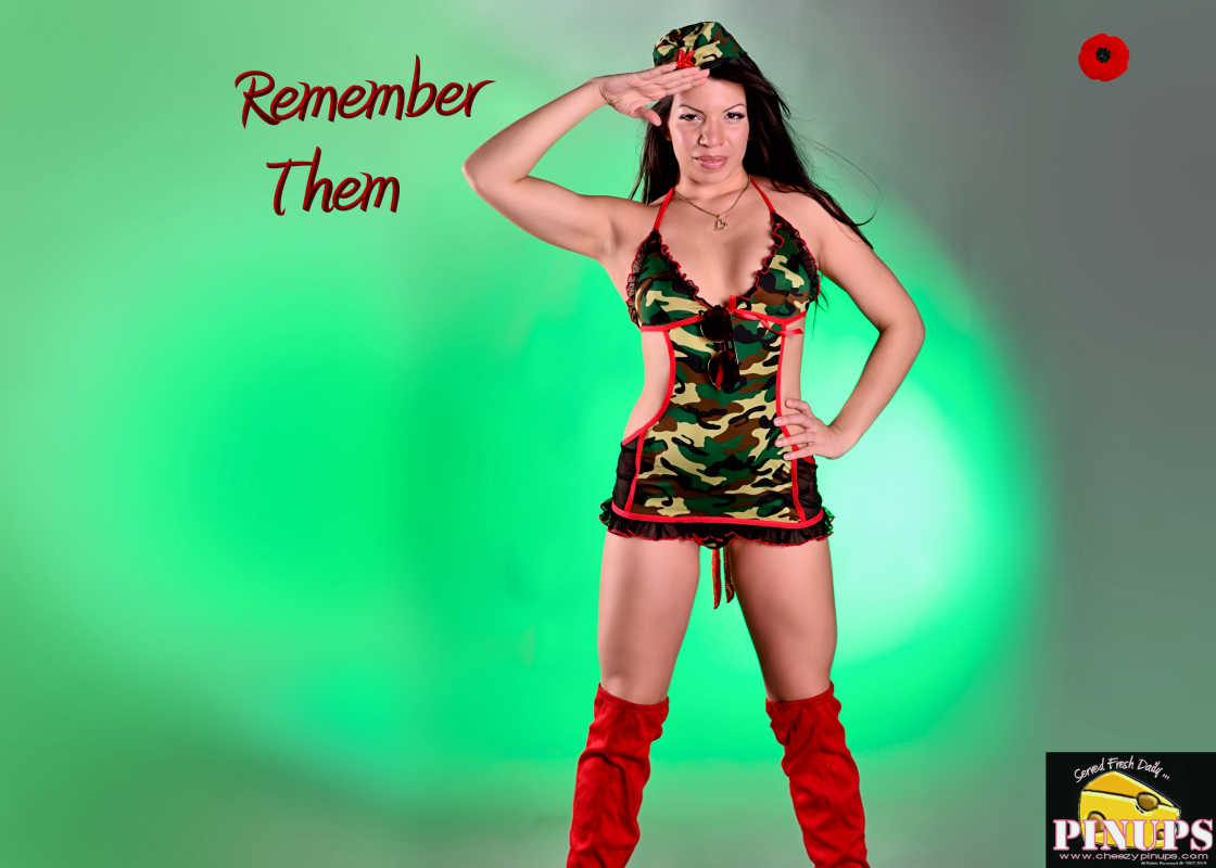 Cheezy Pin up - November 11, 2015 Remember Them Model: Marie-Anne