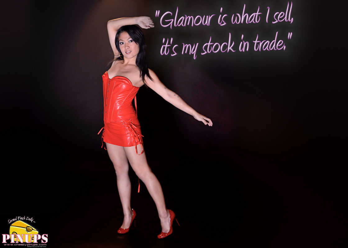 "Cheezy Pin up - December 27, 2015 ""Glamour is what I sell, it's my stock in trade."" - Marlene Dietrich Model: Carmen"