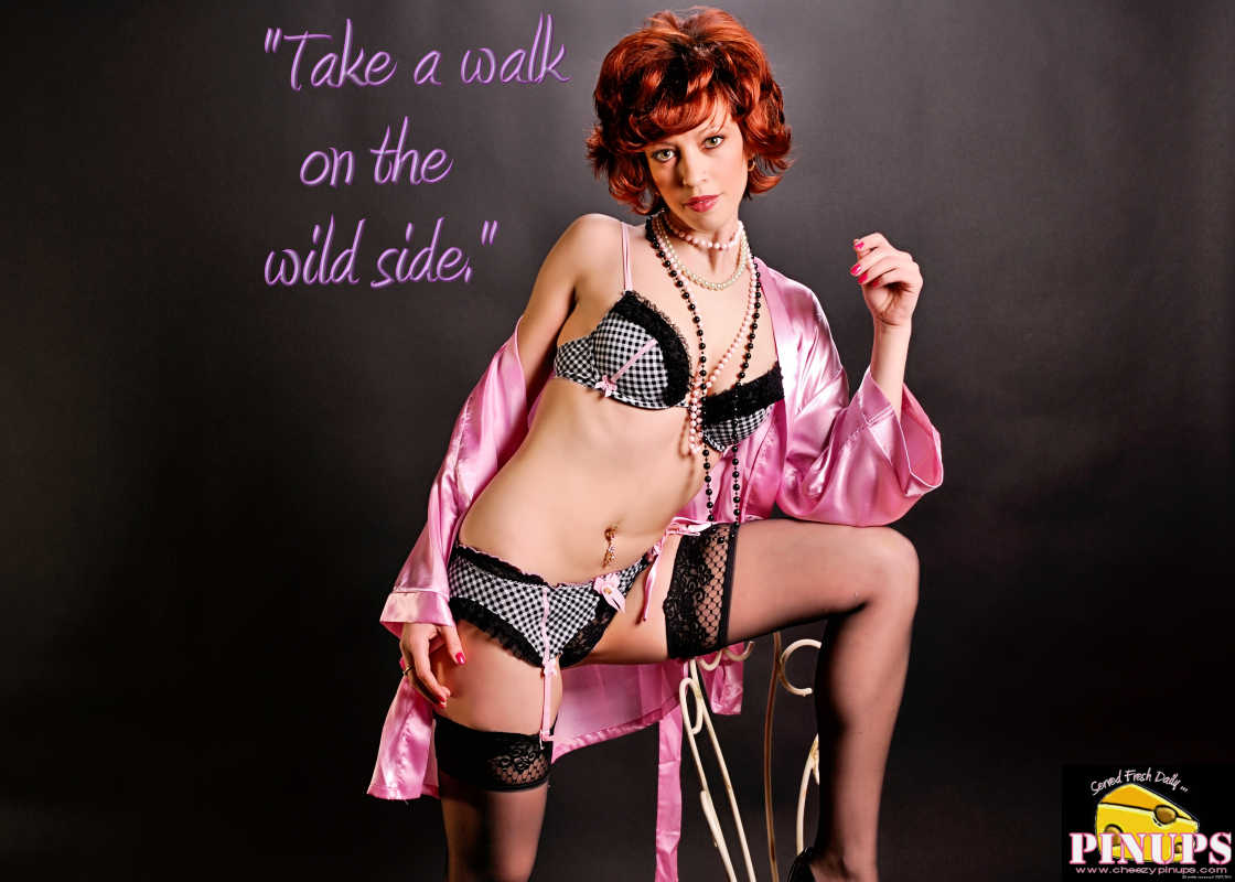 "Cheezy Pin up - March 2, 2016    ""Take a walk on the wild side."" - Lou Reed  Model: Isabelle"