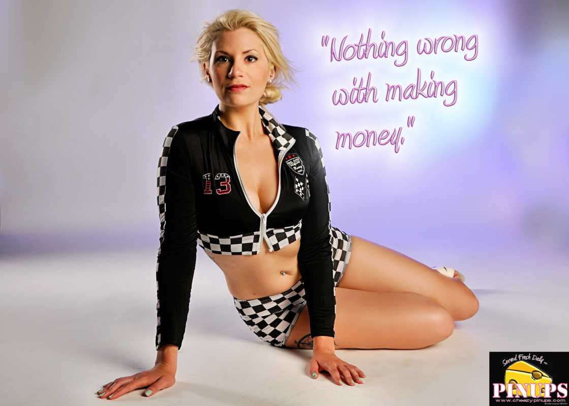 "Cheezy Pin up - March 18, 2016    ""Nothing wrong with making money."" - Adam Levine  Model: Nicole"