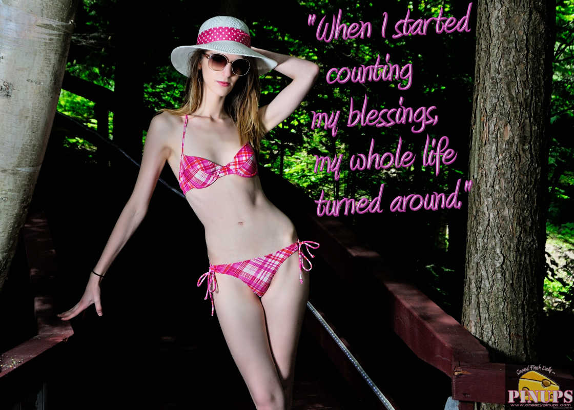 "Cheezy Pinup - July 27, 2016 ""When I started counting my blessings, my whole life turned around."" - Willie Nelson Model: Tara"
