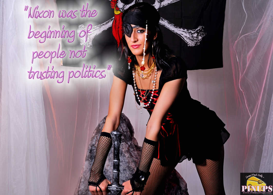 """Cheezy Pinup - October 11, 2016 """"Nixon was the beginning of people not trusting politics."""" - Daryl Hall Model: Christiana"""
