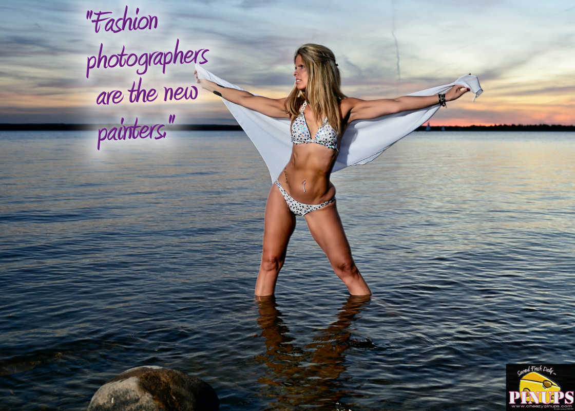 """Cheezy Pinup - November 23, 2016 """"Fashion photographers are the new painters."""" - Peter Lindbergh Model: Roseanne"""