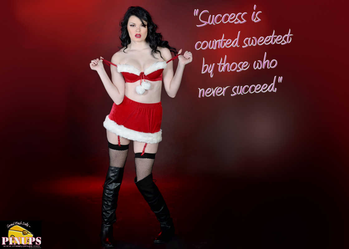 "Cheezy Pinup - December 10, 2016 ""Success is counted sweetest by those who never succeed."" - Emily Dickinson  Model: Scarlet"