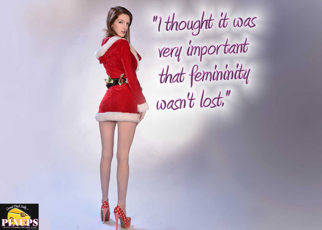 """Cheezy Pinup - December 11, 2016 """"I thought it was very important that femininity wasn't lost."""" - @TheDonnaMills Model: Tara"""