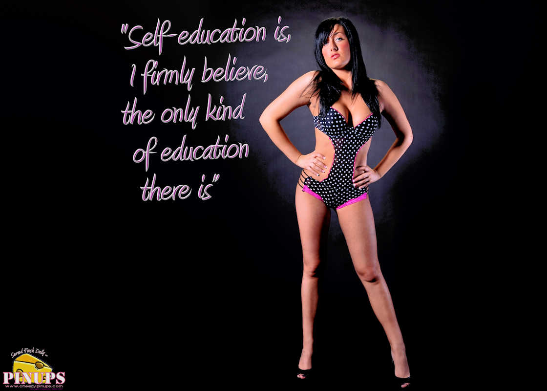 "Cheezy Pinup - January 2, 2017 ""Self-education is, I firmly believe, the only kind of education there is"" - Isaac Asimov Model: Marie-Josee"