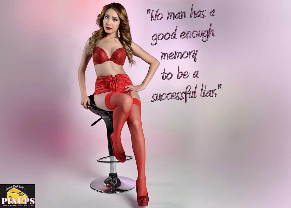 "Cheezy Pinup - February 12, 2017 ""No man has a good enough memory to be a successful liar."" - Abraham Lincoln Model: Jezella"