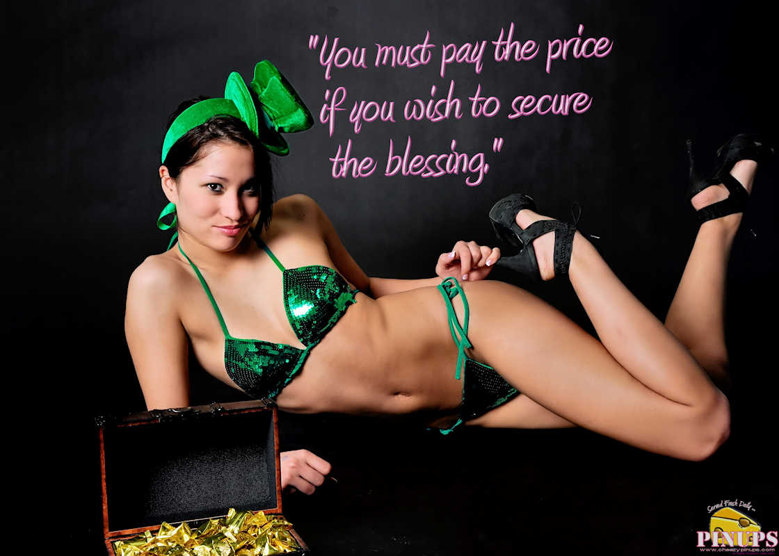 "Cheezy Pinup - March 15, 2017 ""You must pay the price if you wish to secure the blessing."" - Andrew Jackson Model: Ashley B"