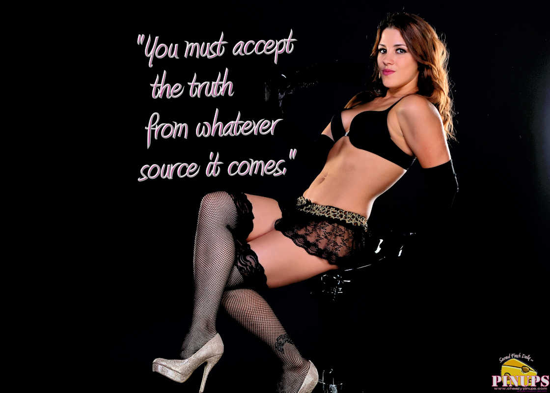 "Cheezy Pinup - March 30, 2017 ""You must accept the truth from whatever source it comes."" - Maimonides Model: Amanda"