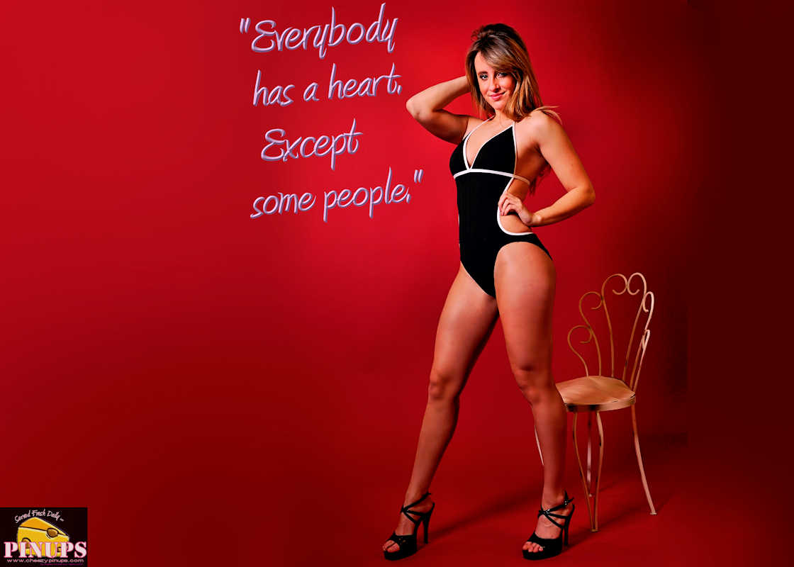 "Cheezy Pinup - April 5, 2017 ""Everybody has a heart. Except some people."" - Bette Davis Model: Alana"