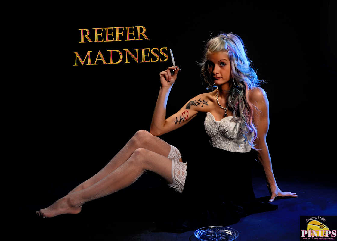 Cheezy Pinup - April 20, 2017 Reefer Madness Model: Vanessa
