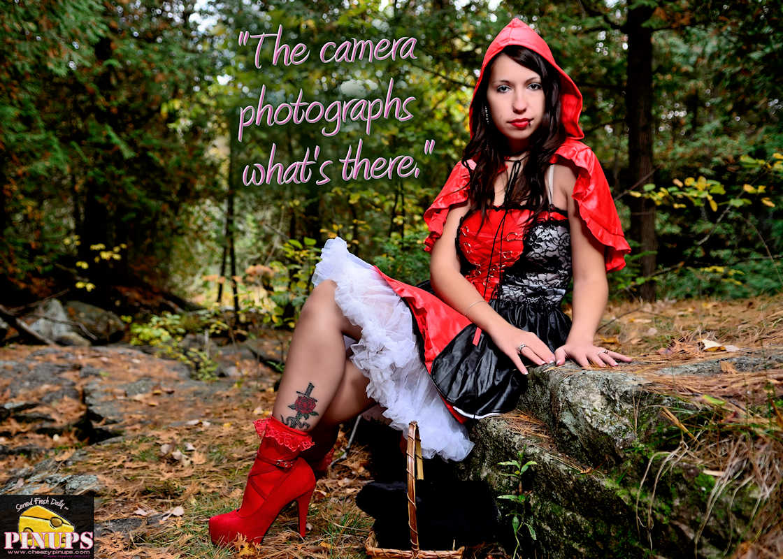 "Cheezy Pinup - April 22, 2017 ""The camera photographs what's there."" - Jack Nicholson Model: Samiie"