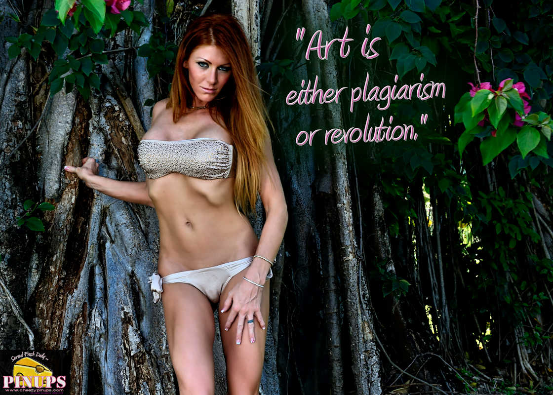 "Cheezy Pinup - June 7, 2017 ""Art is either plagiarism or revolution."" - Paul Gauguin Model: Lindsay"