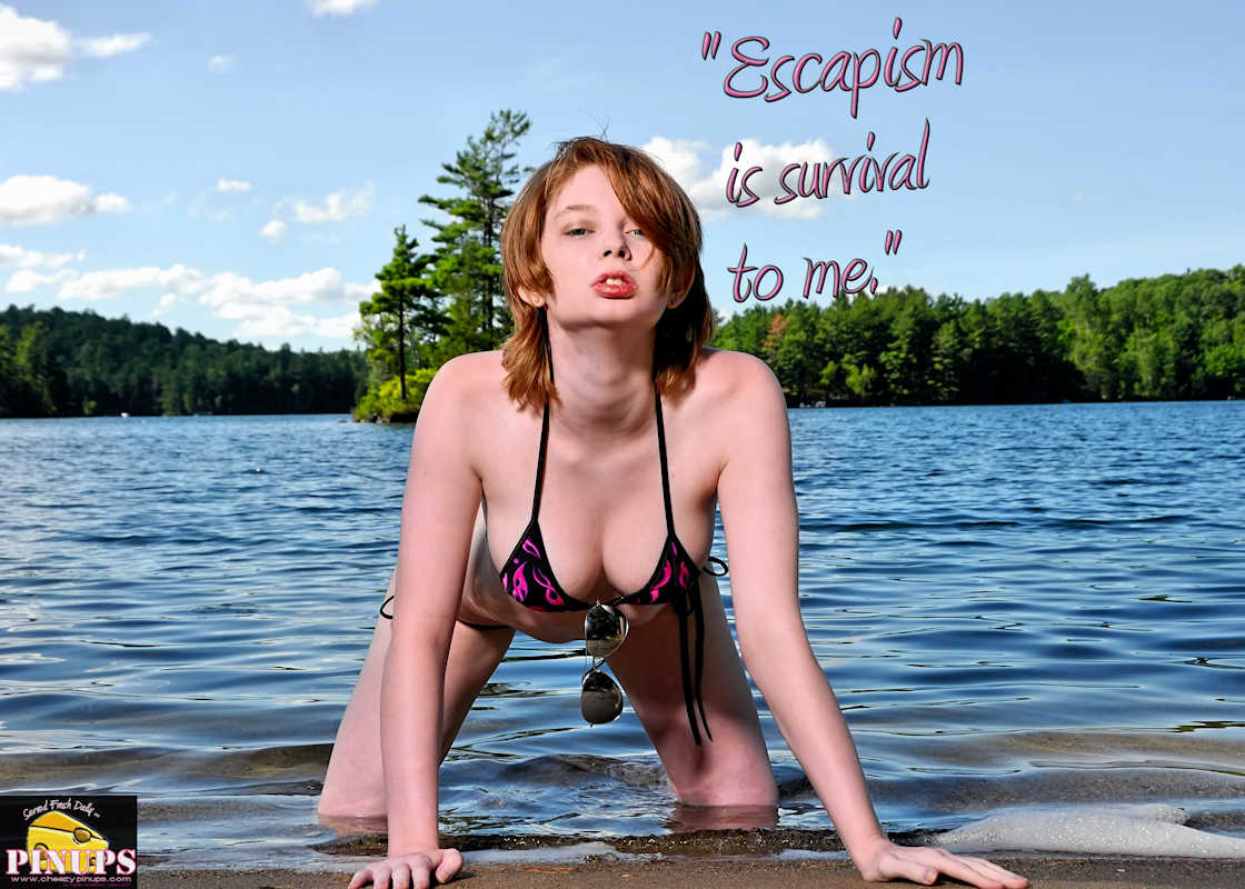 "Cheezy Pinup - June 9, 2017 ""Escapism is survival to me."" - Johnny Depp Model: Redde"
