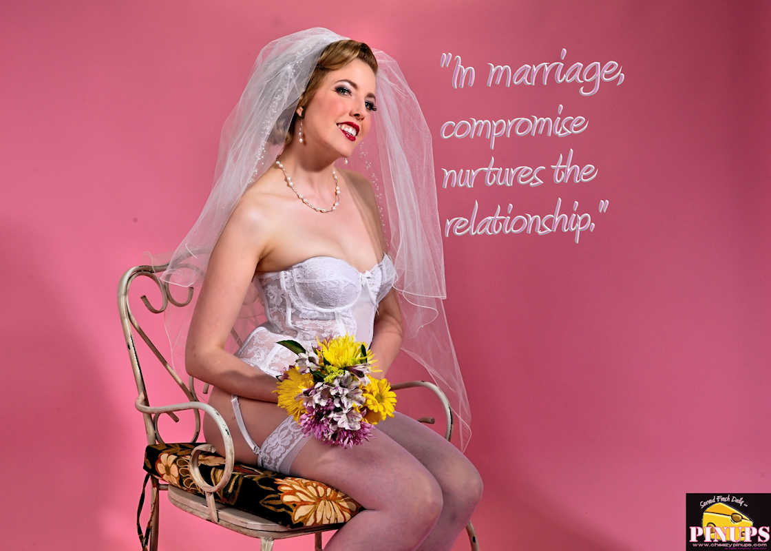 "Cheezy Pinup - June 13, 2017   ""In marriage, compromise nurtures the relationship."" - Tim Allen Model: Kitty"