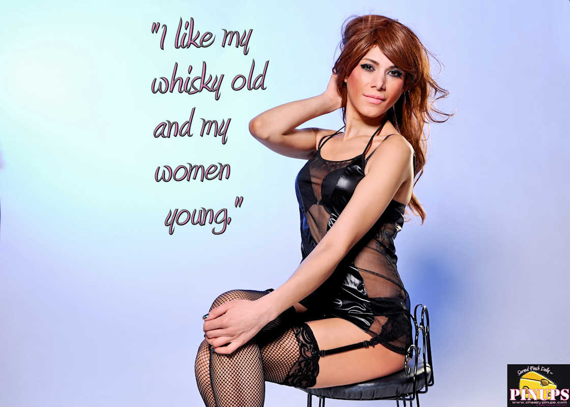 "Cheezy Pinup - June 20, 2017   ""I like my whisky old and my women young."" - Errol Flynn Model: Laura"