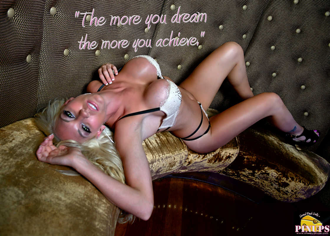 """CheezyPinup - June 30, 2017  """"The more you dream the more you achieve."""" - Michael Phelps Model: Janelle"""