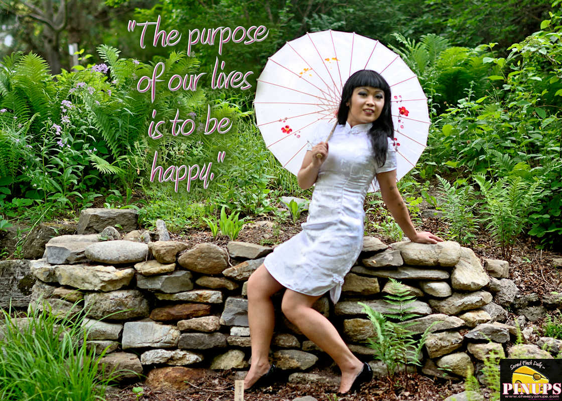 "Cheezy Pinup - July 6, 2017   ""The purpose of our lives is to be happy."" - @DalaiLama Model: Carmen"