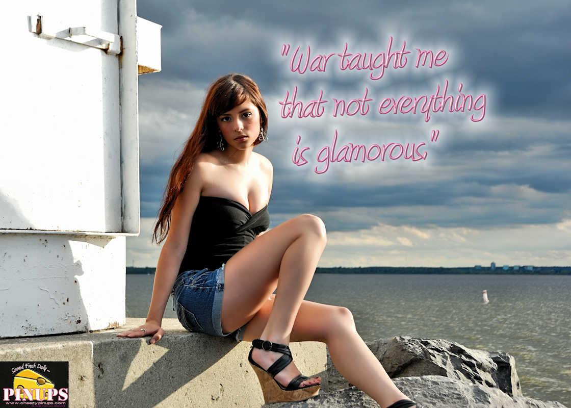 "CheezyPinup - July 11, 2017  ""War taught me that not everything is glamorous."" - Giorgio Armani Model: CarolAnn"