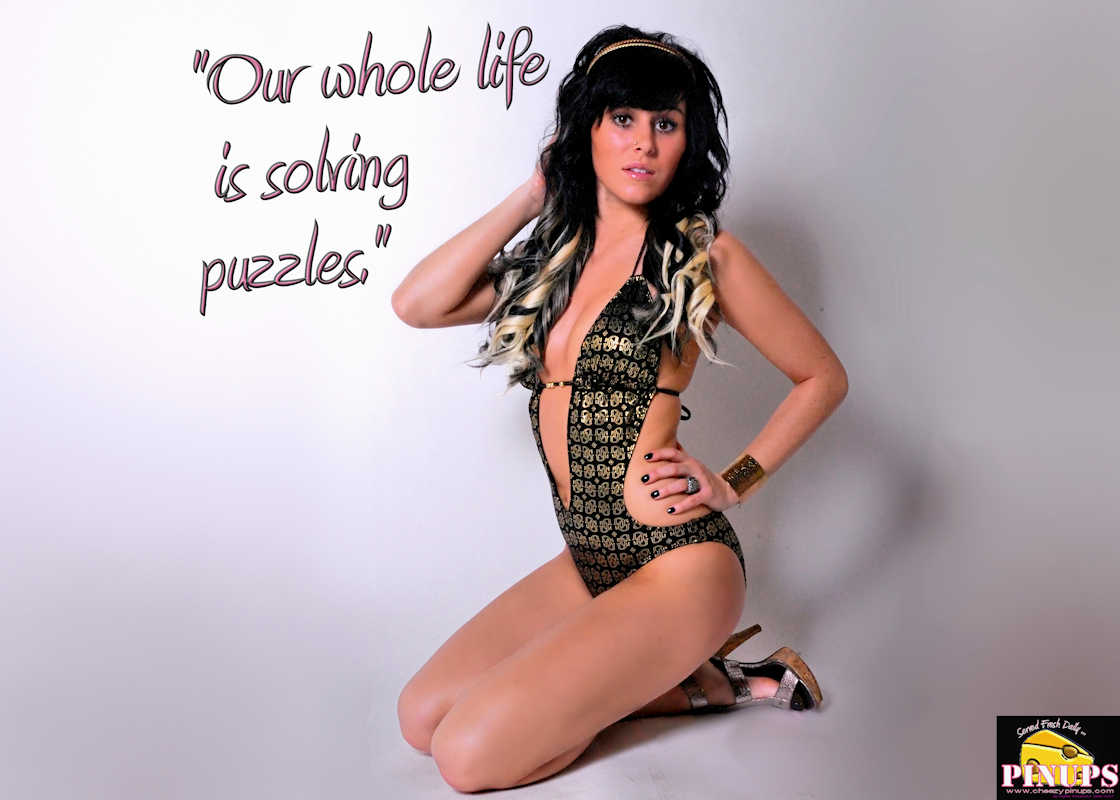 "Cheezy Pinup - July 13, 2017   ""Our whole life is solving puzzles."" - Erno Rubik Model: Marilynne"