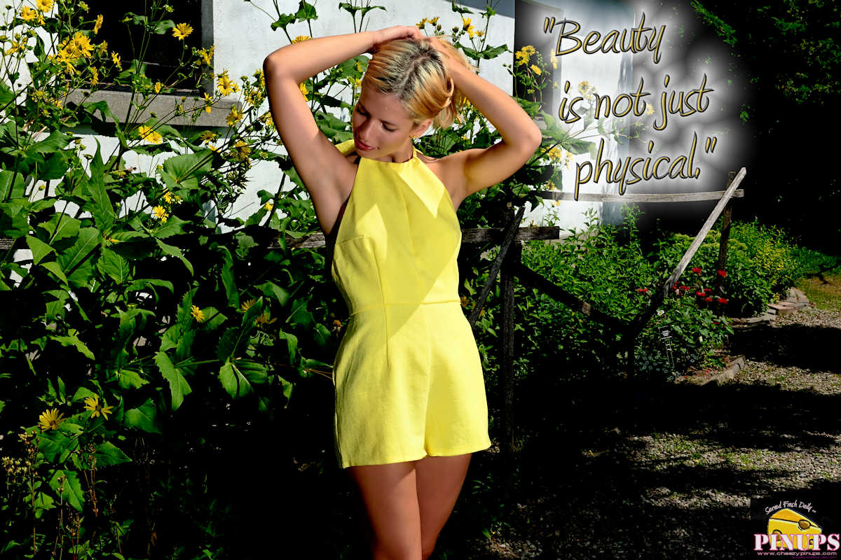 """CheezyPinup - August 14, 2017  """"Beauty is not just physical."""" - Halle Berry Model: Cristiana"""