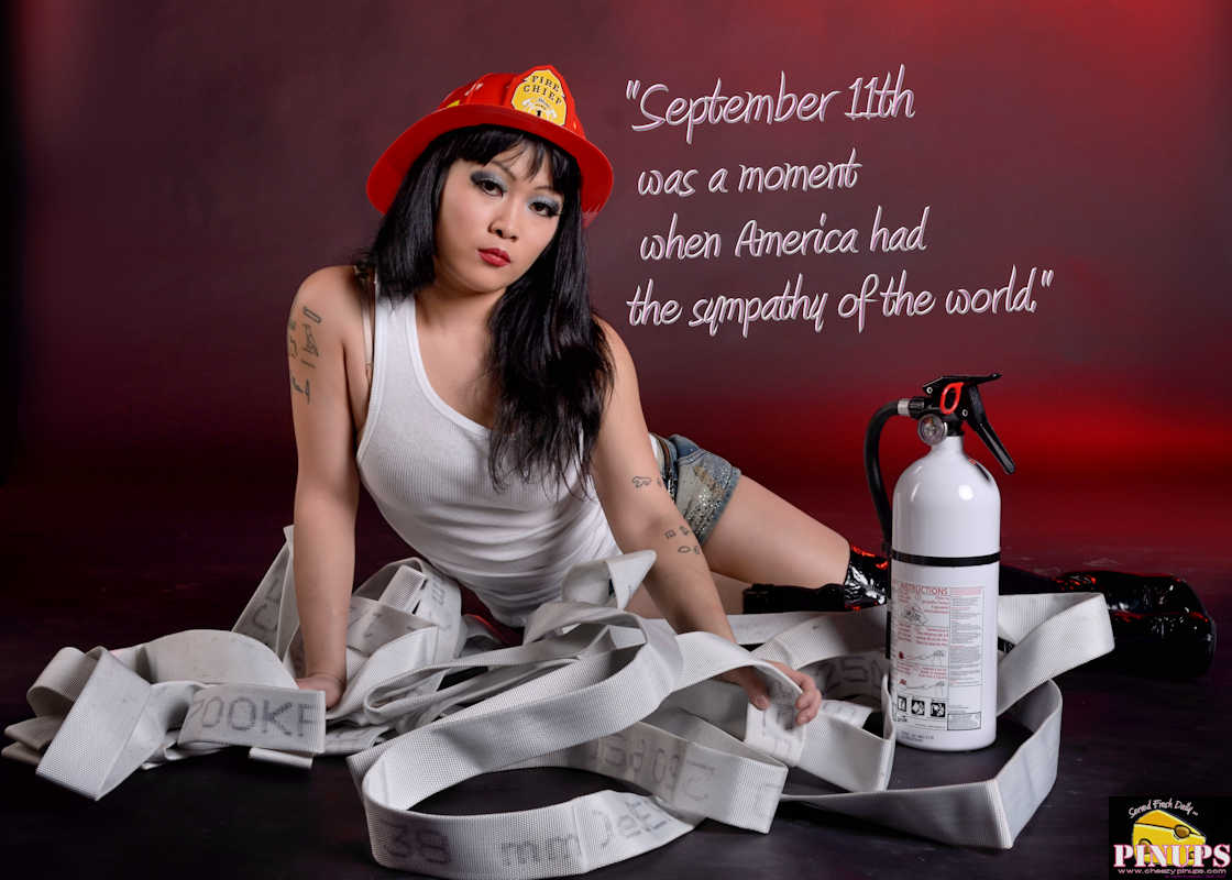 "Cheezy Pinup - September 11, 2017   ""September 11th was a moment when America had the sympathy of the world."" - Tom Ford Model: Carmen"