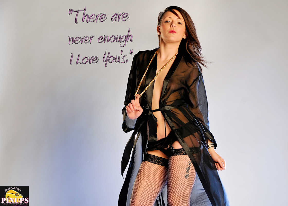 "Cheezy Pinup - October 13, 2017   ""There are never enough I Love You's."" - Lenny Bruce Model: Alexandra"