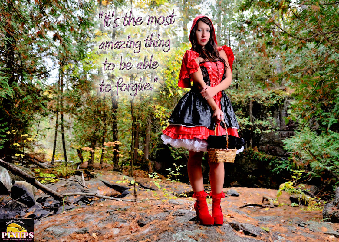 """Cheezy Pinup - October 21, 2017   """"It's the most amazing thing to be able to forgive."""" - Carrie Fisher Model: Samiie"""