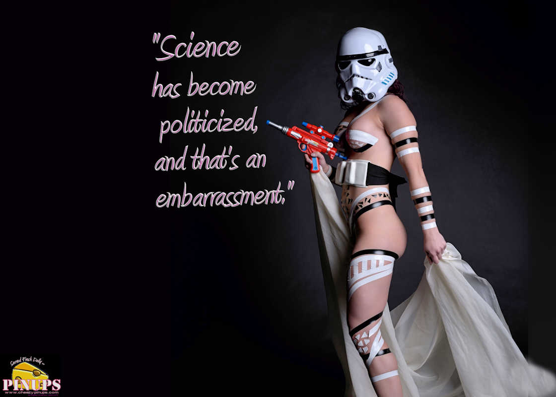 "Cheezy Pinup - October 26, 2017   ""Science has become politicized, and that's an embarrassment."" - Seth MacFarlane Model: Ashley G"