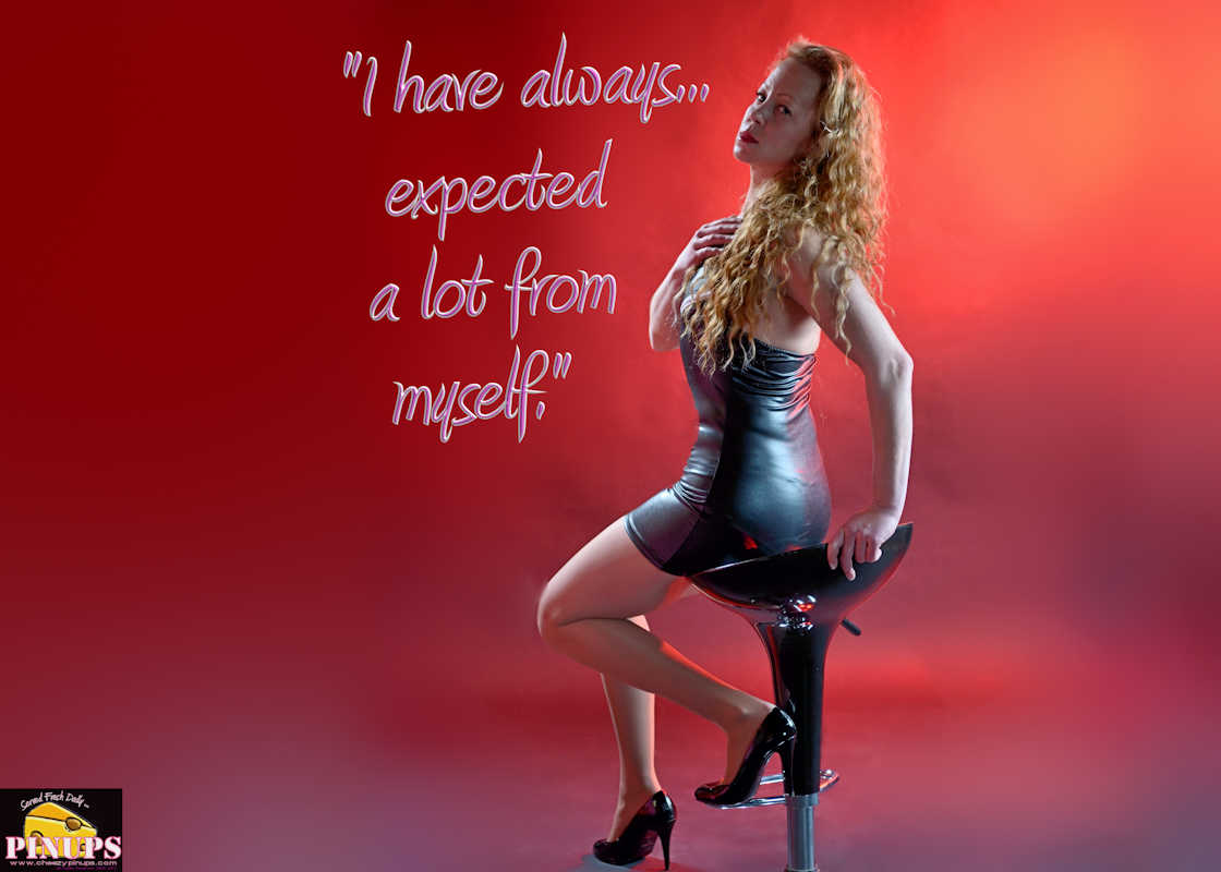 "Cheezy Pinup - November 22, 2017   ""I have always... expected a lot from myself."" - Scarlett Johansson Model: Emily"