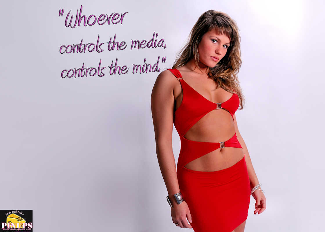 "Cheezy Pinup - December 8, 2017   ""Whoever controls the media, controls the mind."" - Jim Morrison Model: Karelle"