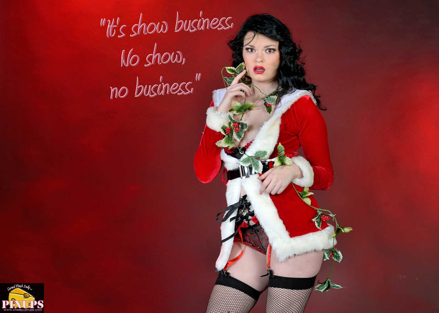 "Cheezy Pinup - December 20, 2017   ""It's show business. No show, no business."" - Dick Wolf Model: Scarlet"