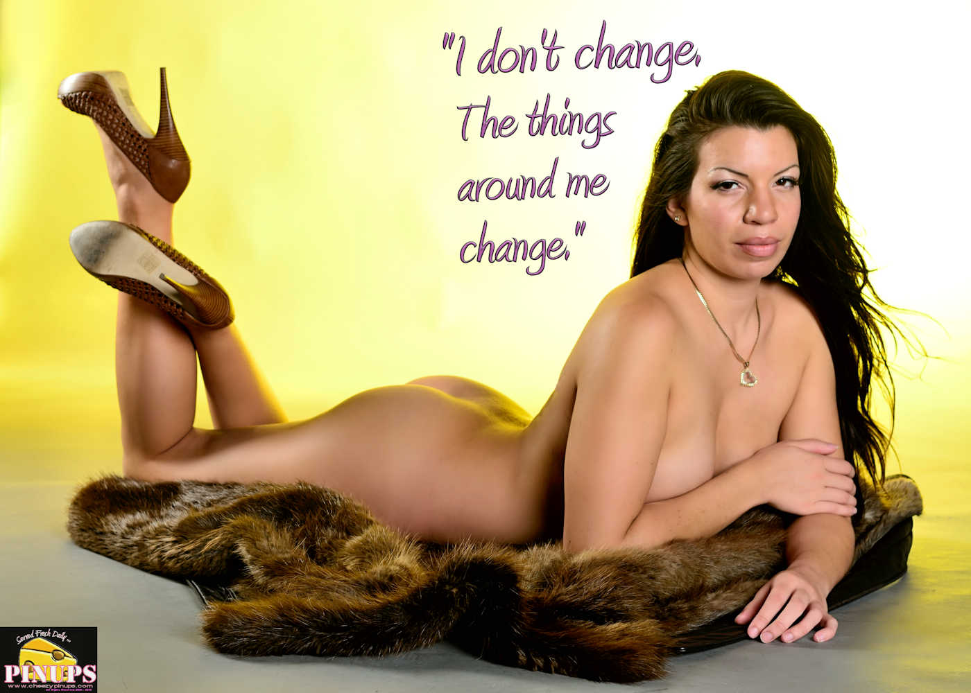 "Cheezy Pinup - January 7, 2018   ""I don't change. The things around me change."" - Jeremy Renner Model: Marie"