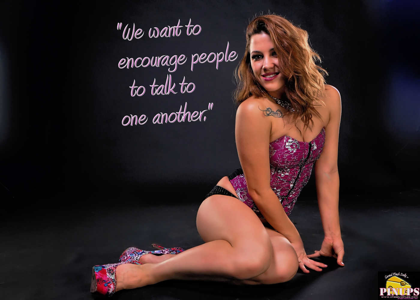 "Cheezy Pinup - January 9, 2017 ""We want to encourage people to talk to one another."" - Kate Middleton Model: Amanda"