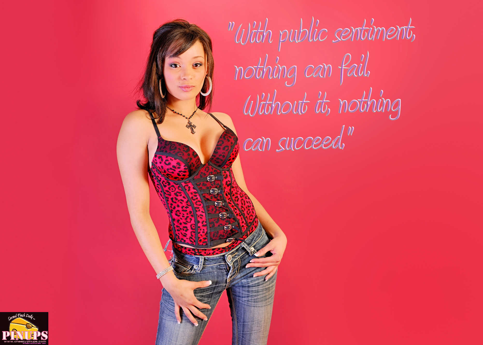 "Cheezy Pinup - February 12, 2018   ""With public sentiment, nothing can fail. Without it, nothing can succeed."" - Abraham Lincoln Model: Natasha"