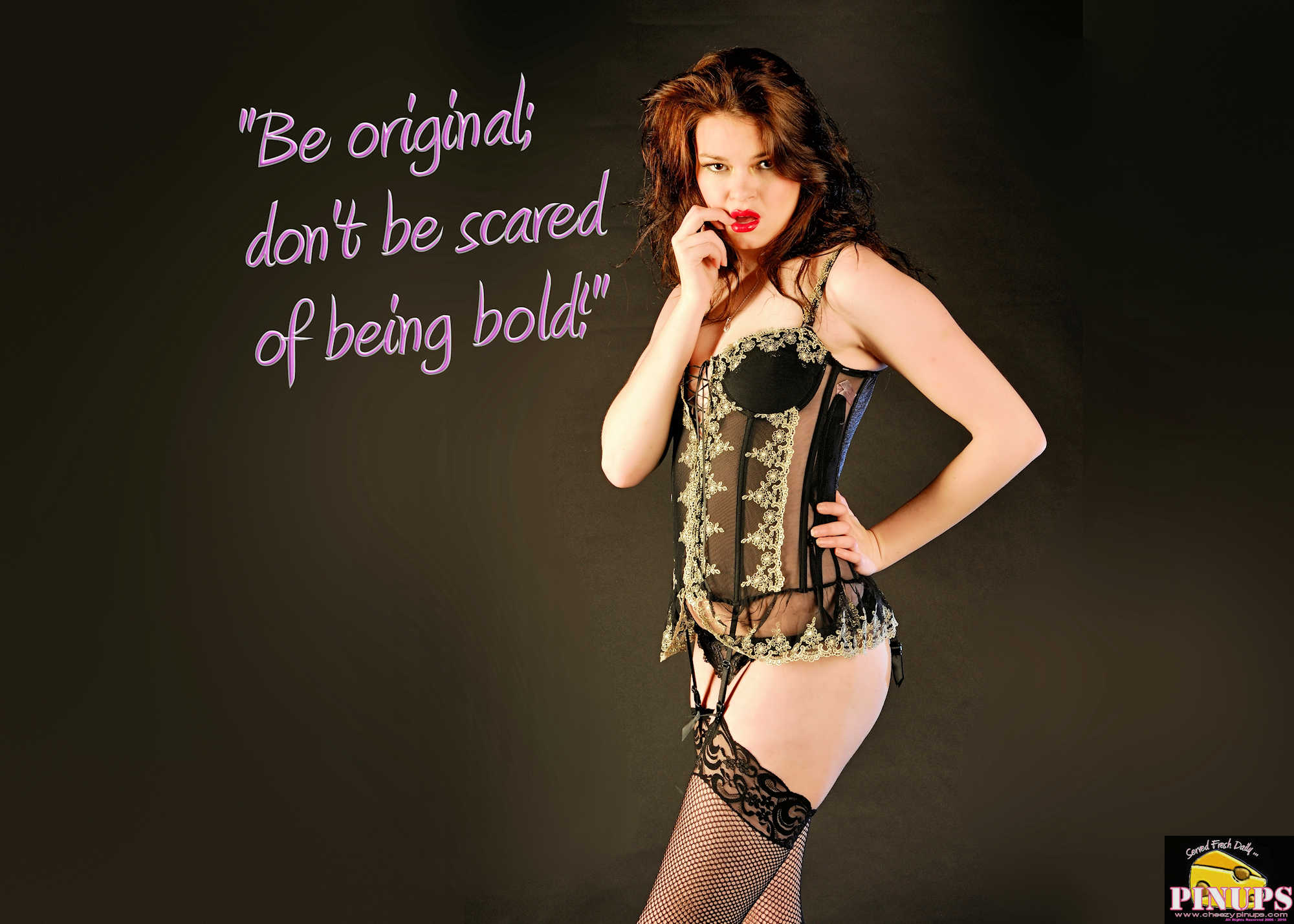 "Cheezy Pinup - February 17, 2018 ""Be original; don't be scared of being bold!"" - Ed Sheeran Model: Scarlett Letter"