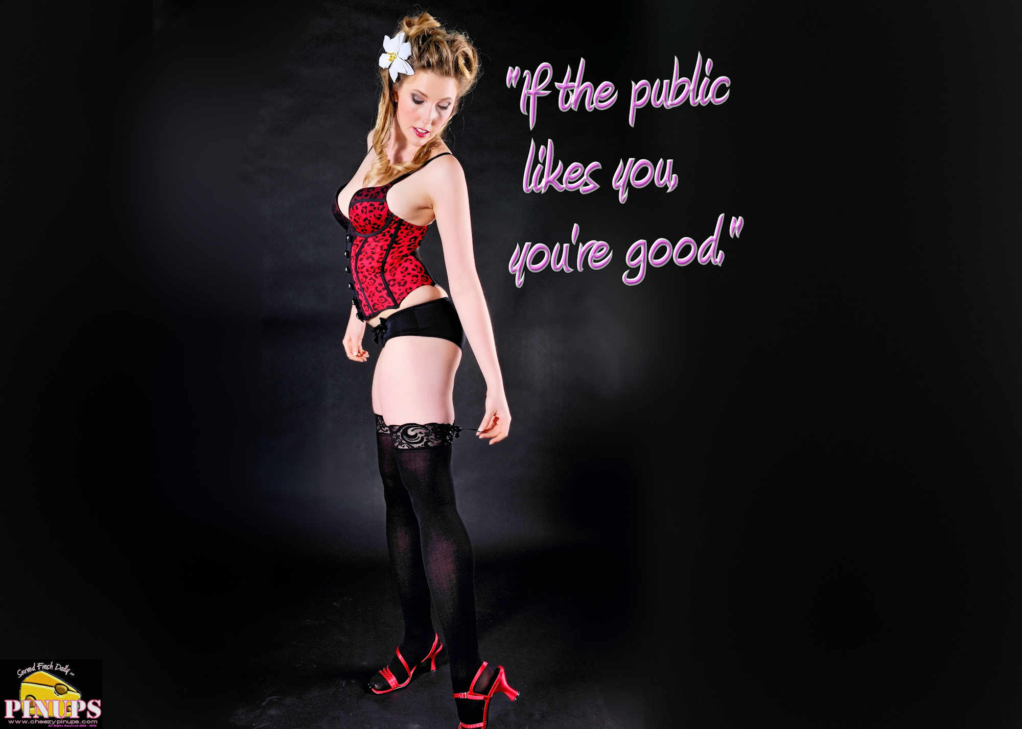 "Cheezy Pinup - March 9, 2018   ""If the public likes you, you're good."" - Mickey Spillane Model: Kitty"
