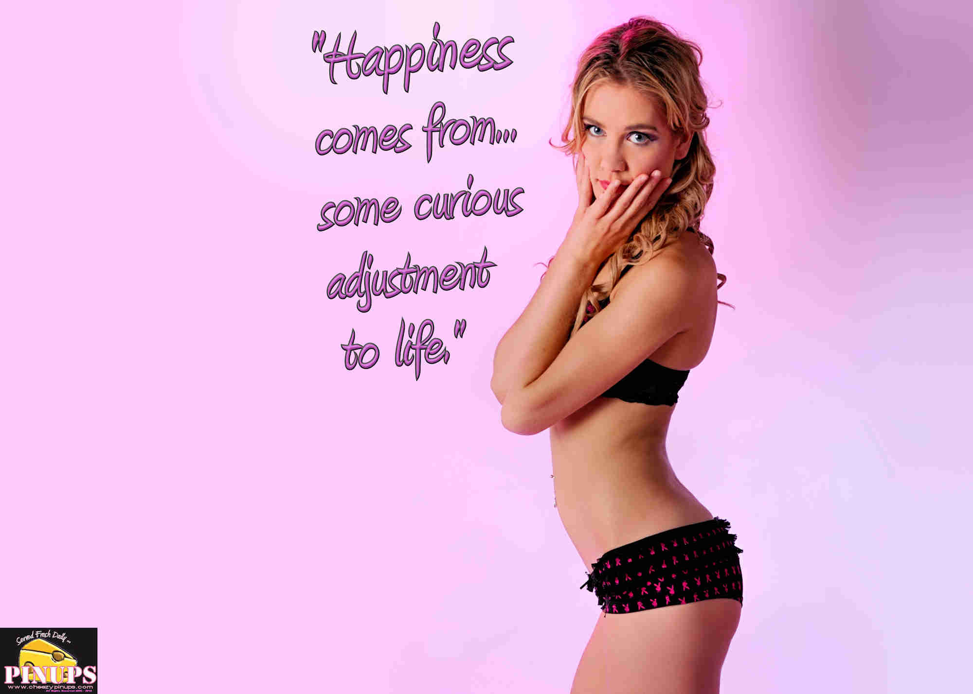 "Cheezy Pinup - March 13, 2018 ""Happiness comes from... some curious adjustment to life."" - Hugh Walpole Model: Katryna"