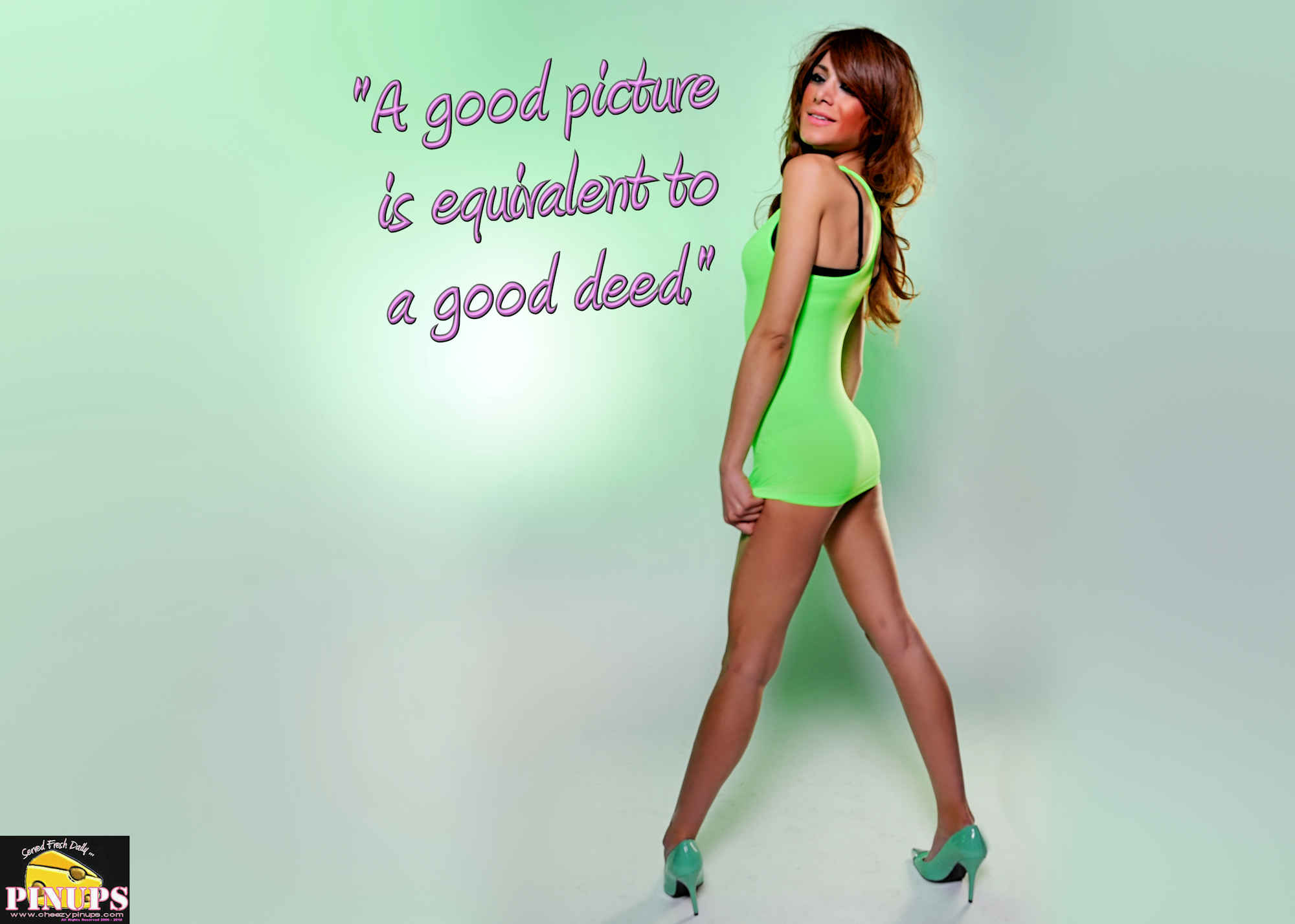 "Cheezy Pinup - March 30, 2018   ""A good picture is equivalent to a good deed."" - Vincent Van Gogh Model: Laura"
