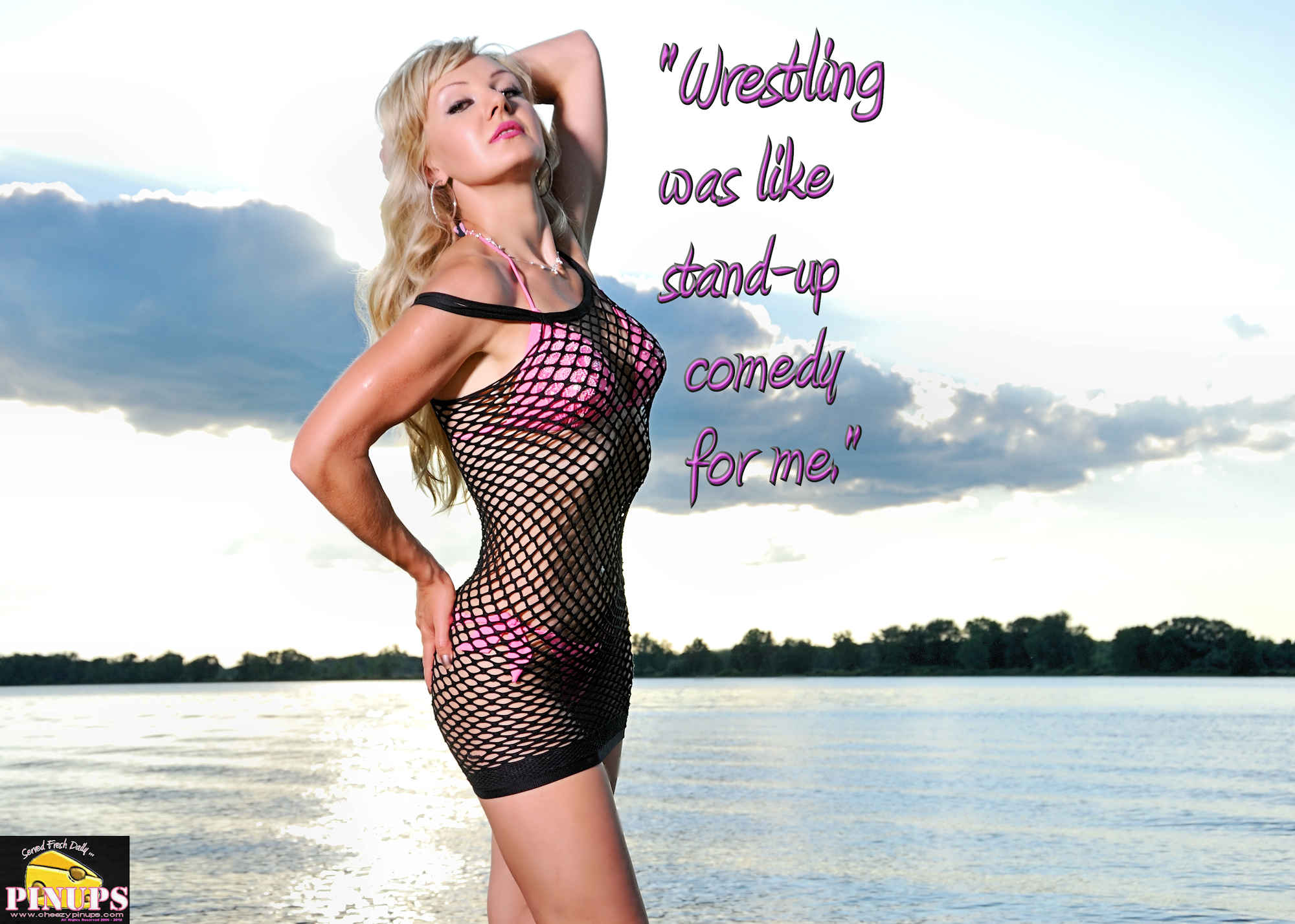 "Cheezy Pinup - May 2, 2018 ""Wrestling was like stand-up comedy for me."" -Dwayne Johnson Model: Alya"
