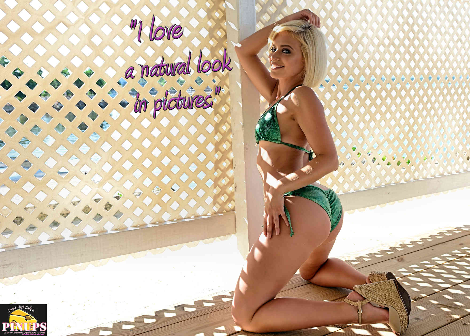 """Cheezy Pinup - June 1, 2018   """"I love a natural look in pictures."""" - Marilyn Monroe Model: @lily.mariexoxo"""