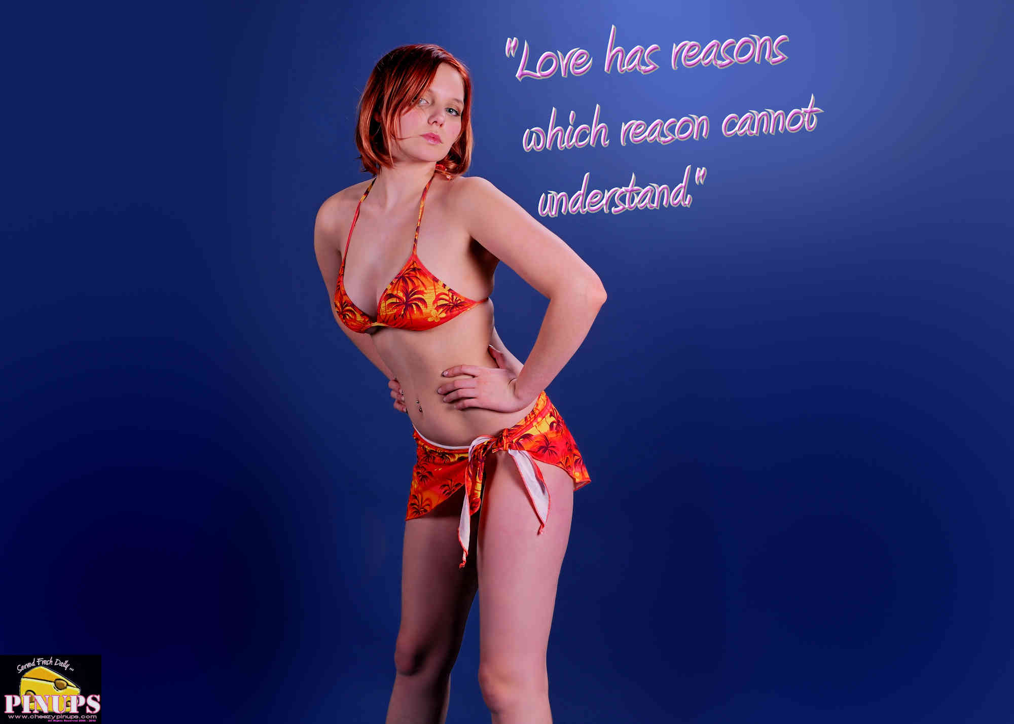 "Cheezy Pinup - June 19, 2018   ""Love has reasons which reason cannot understand."" - Blaise Pascal Model: Nadia"