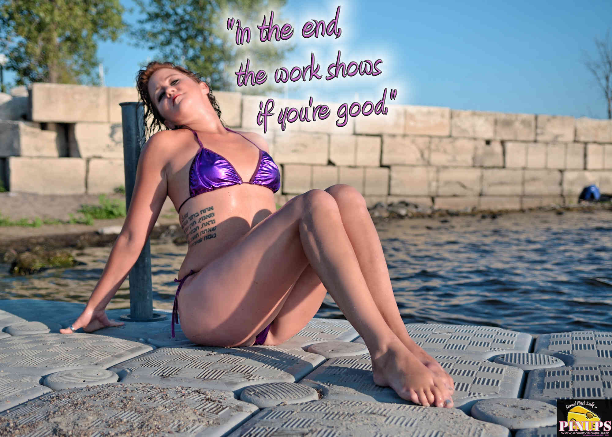 """Cheezy Pinup - August 23, 2018   """"In the end, the work shows if you're good."""" - Scott Caan Model: Yaakova"""