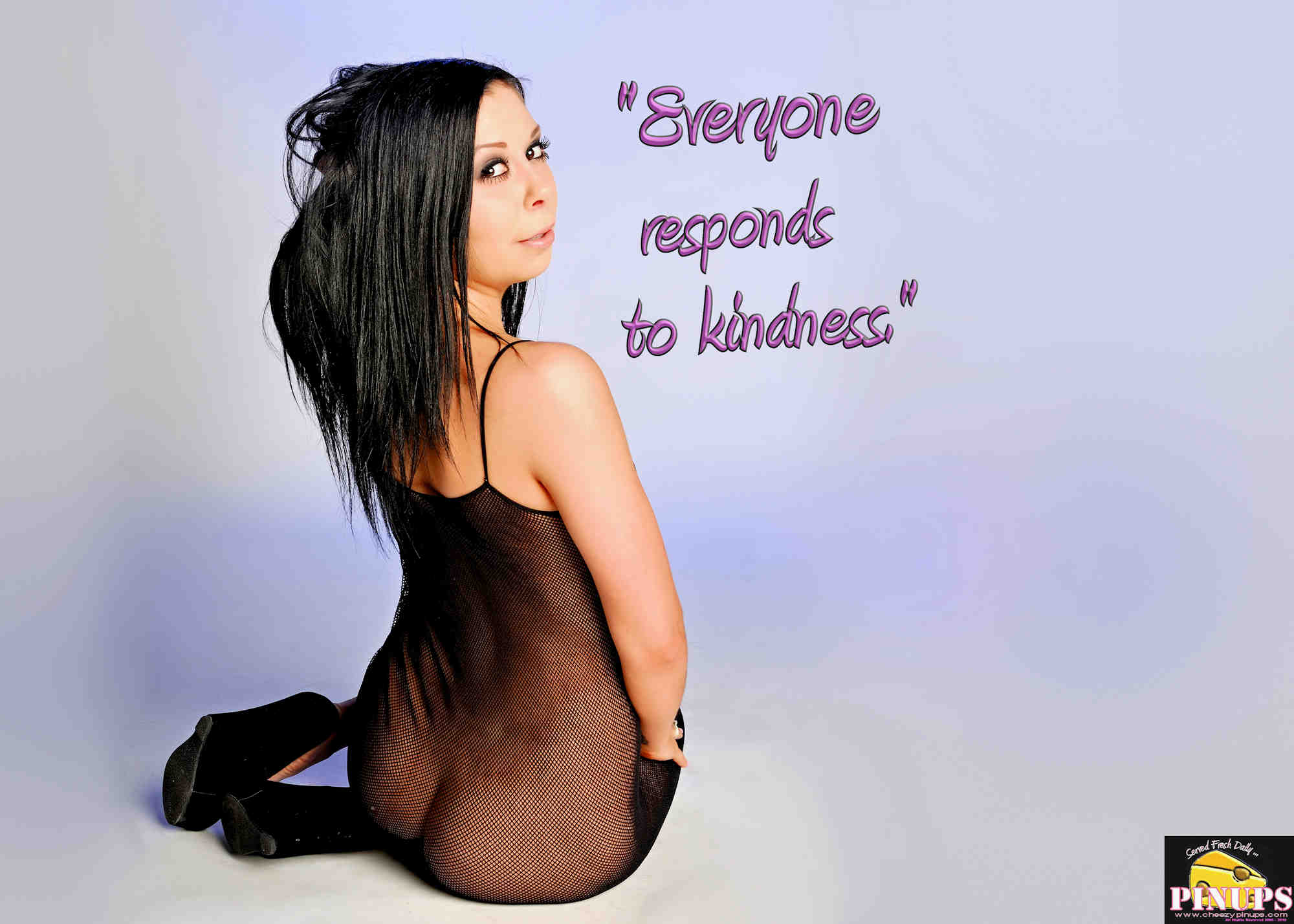 "Cheezy Pinup - August 31, 2018   ""Everyone responds to kindness."" - Richard Gere Model: Jessyka"