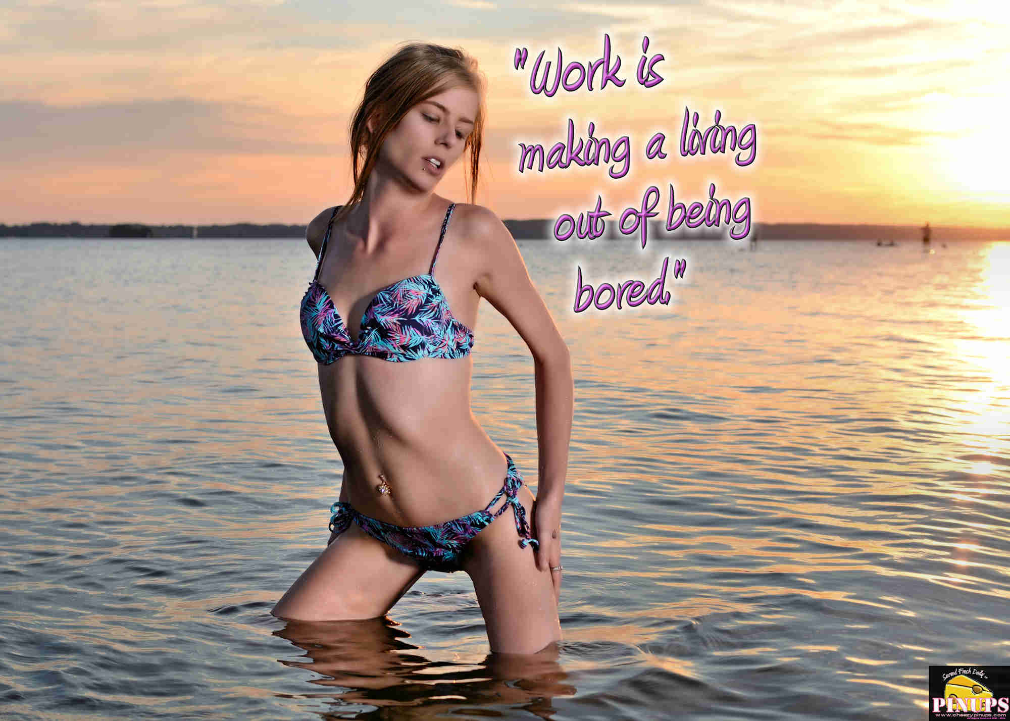 "Cheezy Pinup - September 10, 2018   ""Work is making a living out of being bored."" - @KarlLagerfeld Model: Anastacia"