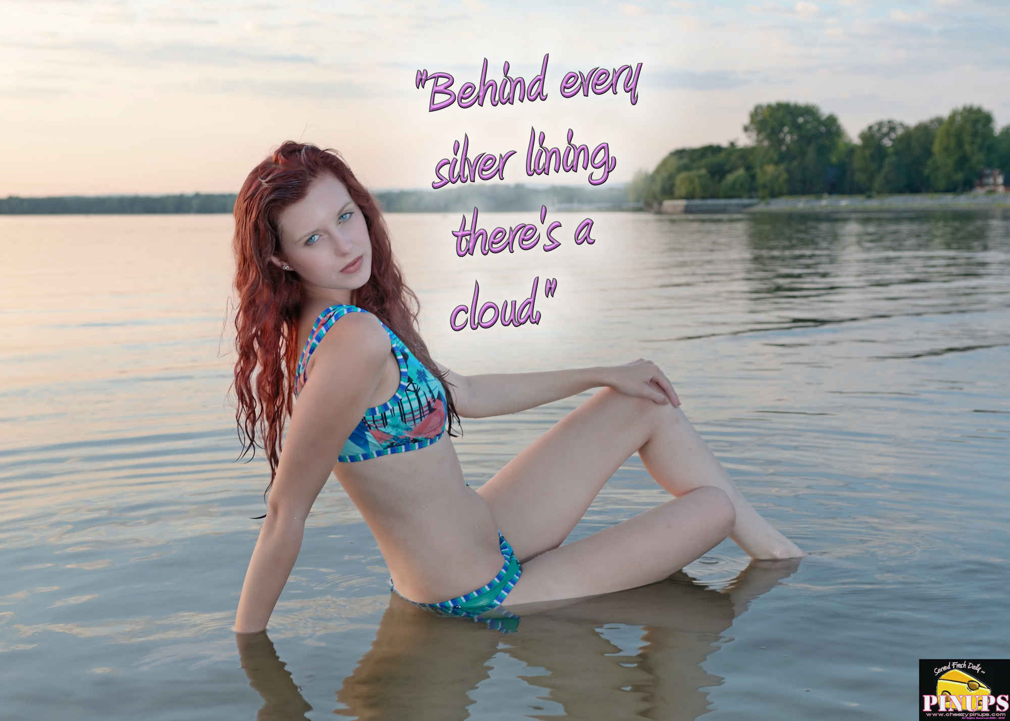 "Cheezy Pinup - September 25, 2018   ""Behind every silver lining, there's a cloud."" - Glenn Gould Model: Christiana"