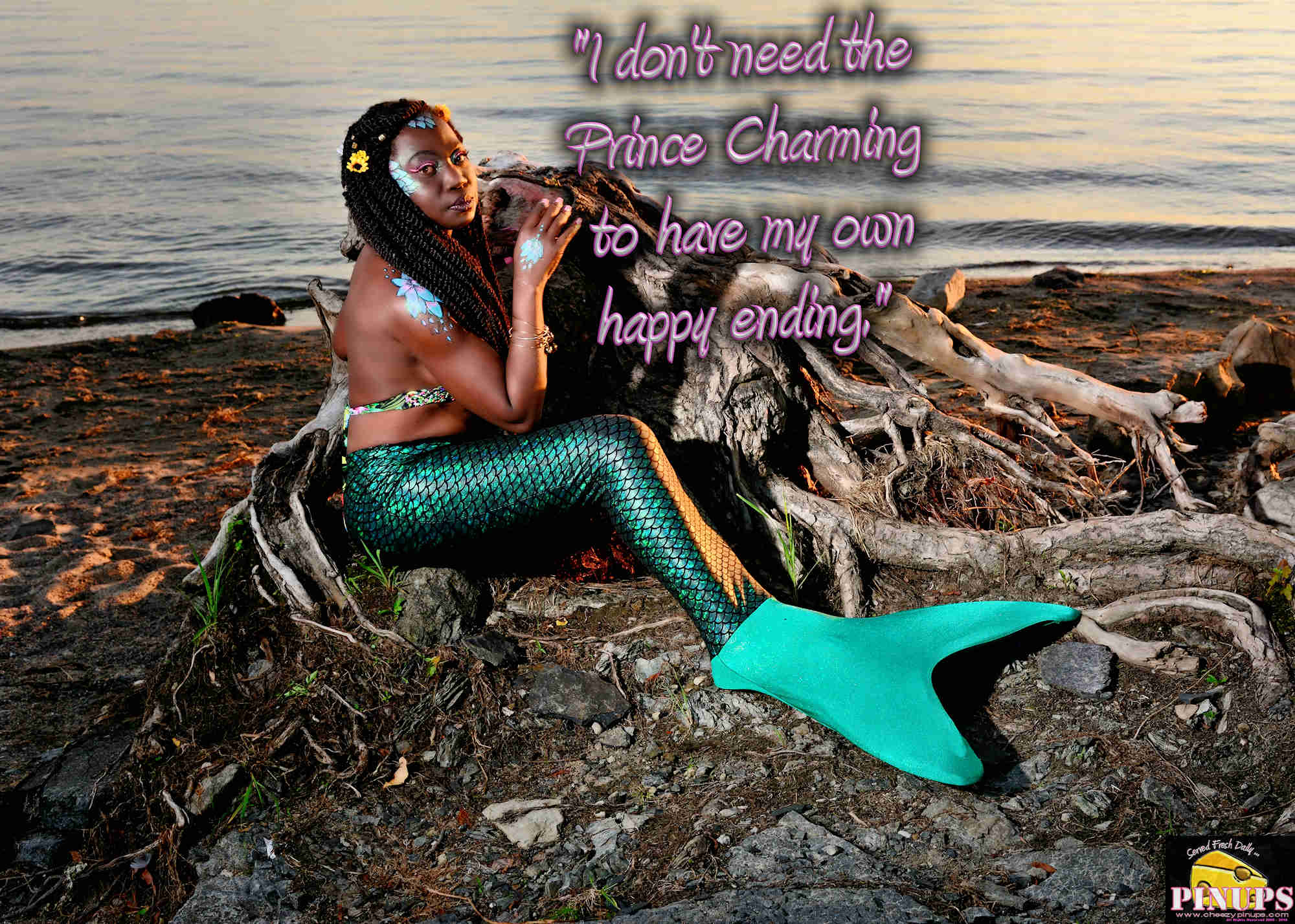 "Cheezy Pinup - October 25, 2018   ""I don't need the Prince Charming to have my own happy ending."" - Katy Perry Model: Flo"